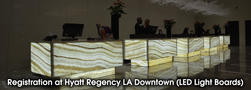 Registration at Hyatt Regency LA Downtown (LED Light Boards)