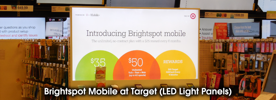 Brightspot Mobile at Target (LED Light Panels)